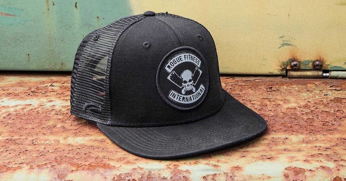 Rogue International Flat Bill Hat Trucker Hat Baseball