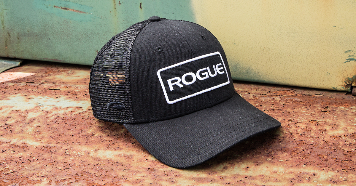 Rogue Patch Trucker Hat Logo Cap Black Rogue Fitness