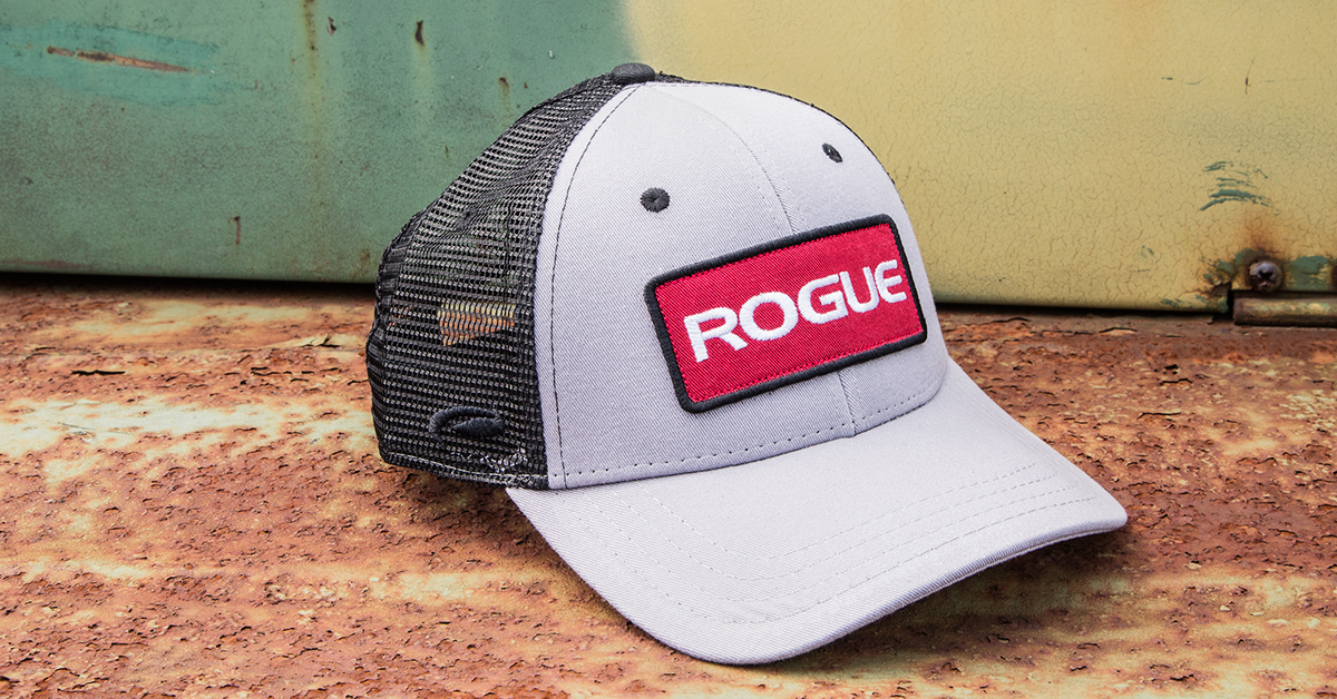 Rogue Patch Trucker Hat - Logo Cap - Gray  7958e21ac9e