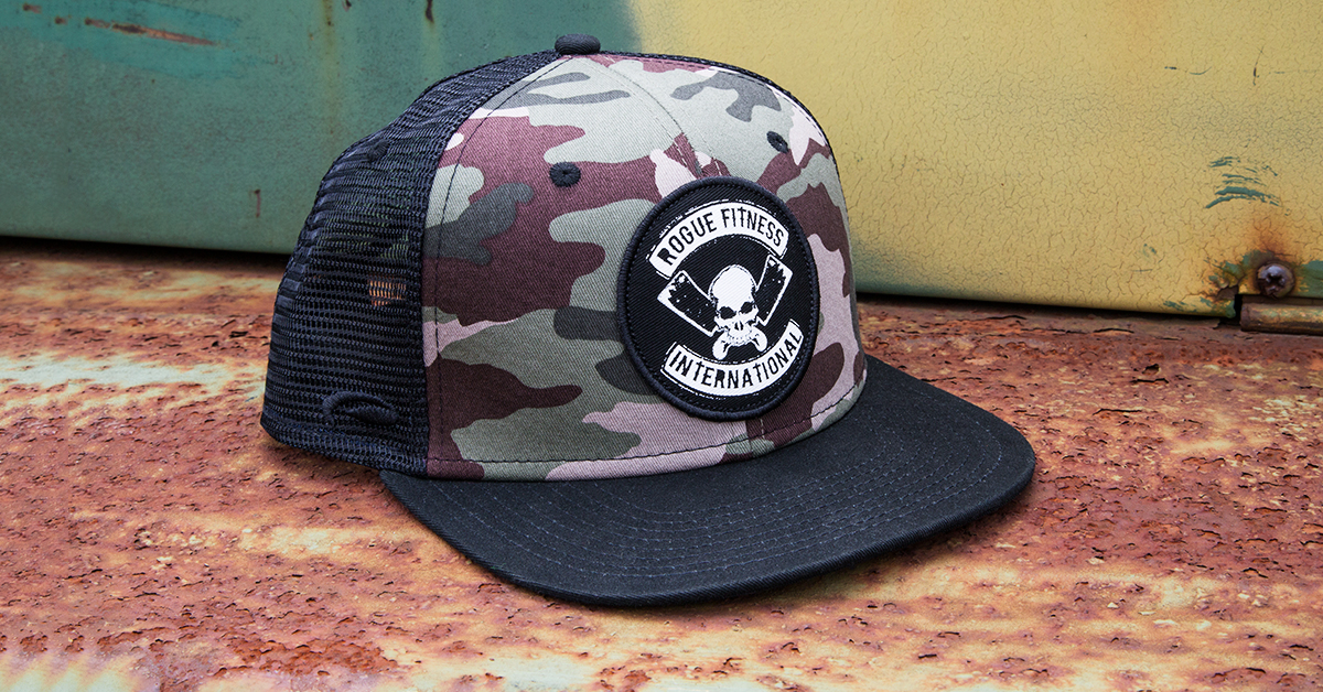 8ede535cc5b Rogue International Flat Bill Hat - Trucker Hat   Baseball Cap - Camo