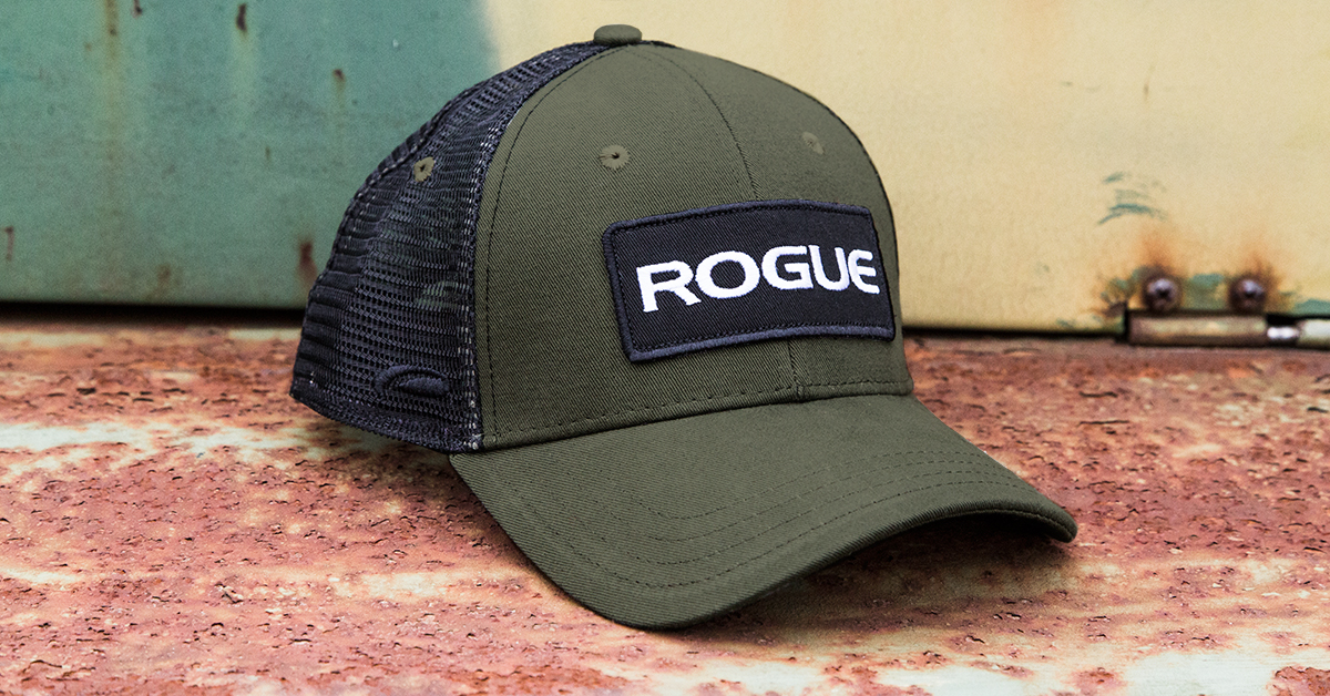 Rogue Patch Trucker Hat - Logo Cap - Olive Green  12171035bc0