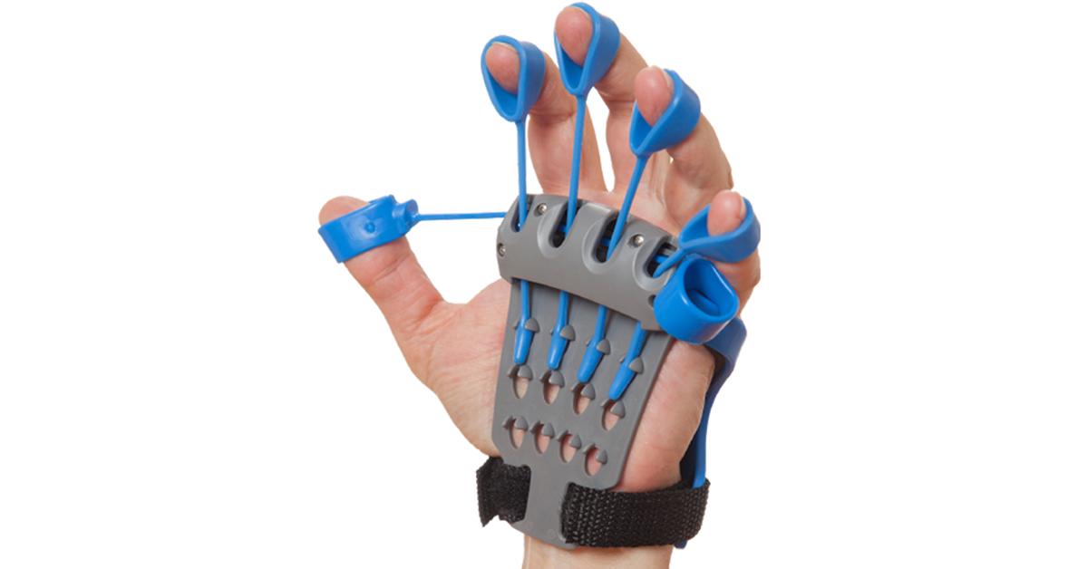 Hand Fingers Strength Exerciser Trainer Strengthener Grip Resistance Band、Hot