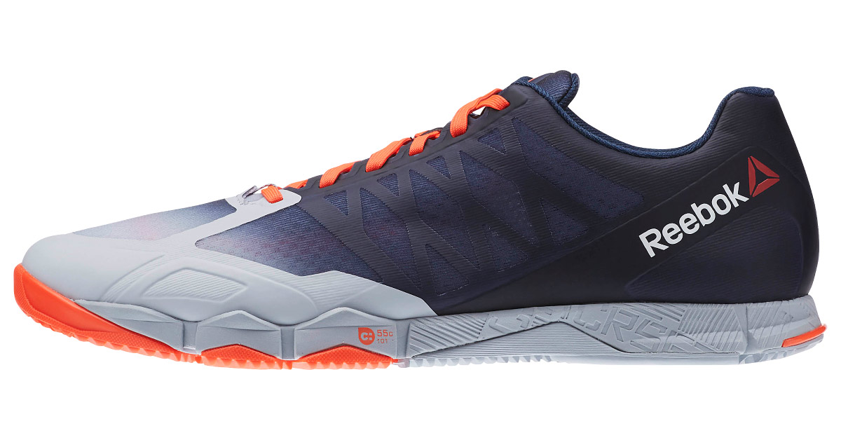 Reebok Crossfit Speed TR - Cloud Grey / Collegiate Navy / Atomic Red |  Rogue Fitness
