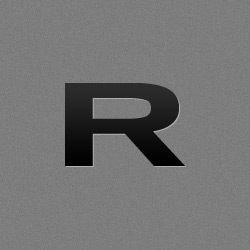 Groove Ring - Original - Black / Red standing upright on white background