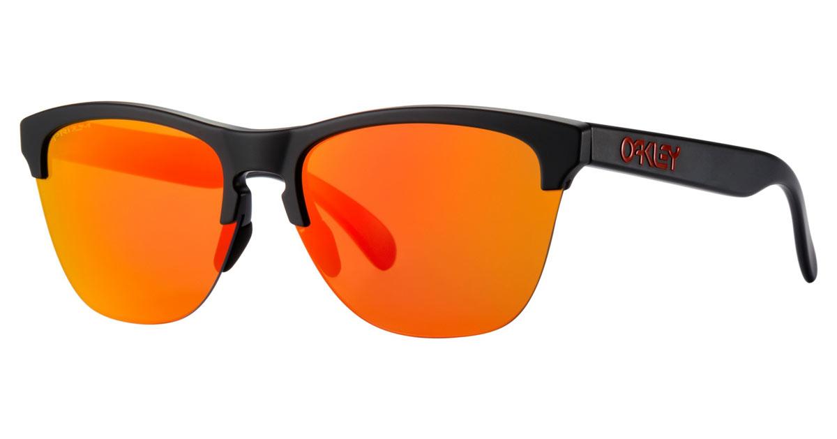 8f78d9ef02c Oakley Frogskin Lite Matte Black Prizm Ruby Sunglasses