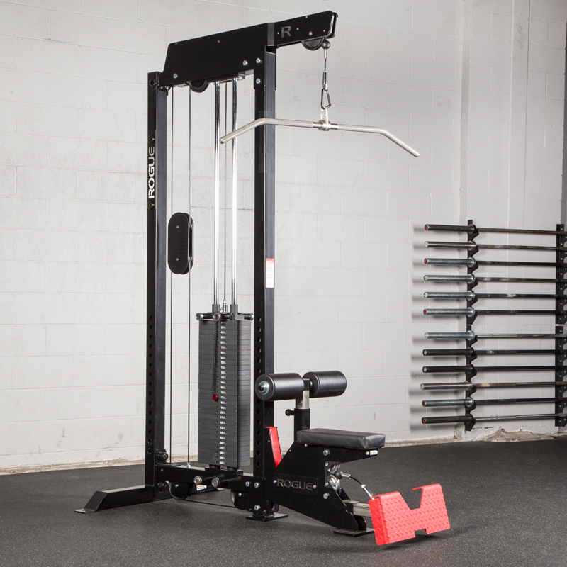 lat pulldown and row machine