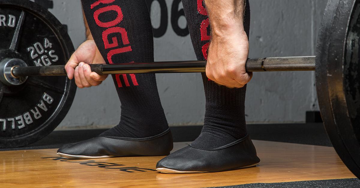 Metal Deadlift Slippers Black Rogue Fitness