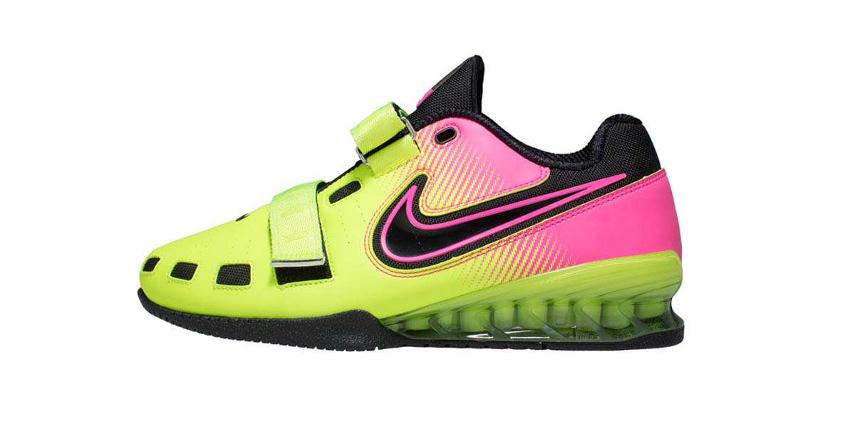 nike romaleos 2 weightlifting shoes volt hyper pink