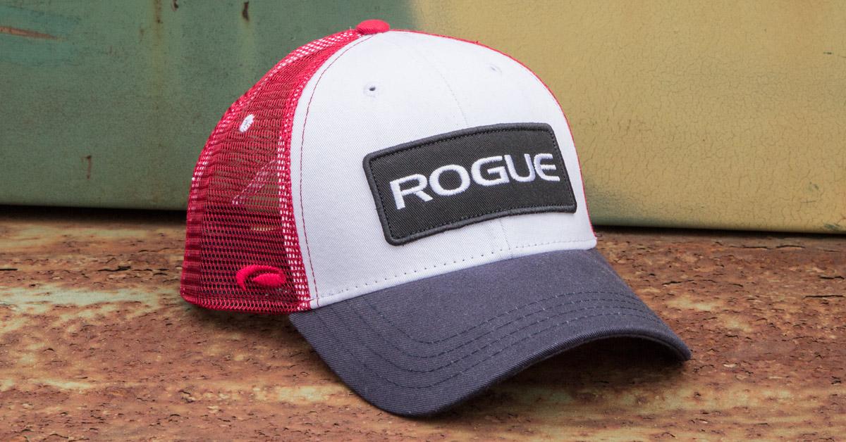 Rogue Patch Trucker Hat - Logo Cap - Red ee1b3d2686d