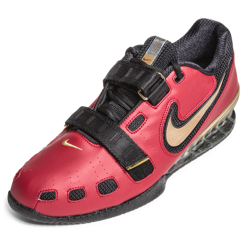 Nike romaleos weightlifting shoes red gold rogue