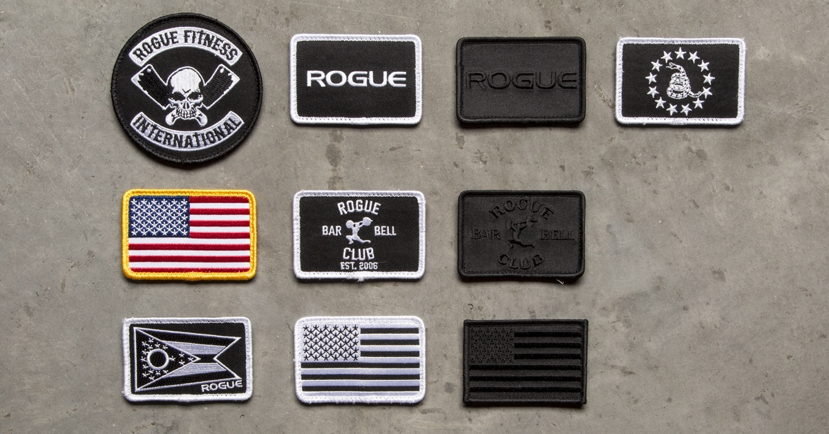 Rogue Patches For Your Gym Bag Jacket Or Hat Various