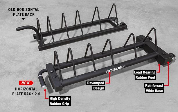 Rogue Horizontal Plate Rack 2.0 & Rogue Horizontal Plate Rack 2.0 - Bumper Storage | Rogue Fitness