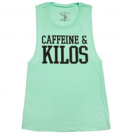Caffeine & Kilos Mint Womens Muscle Tank