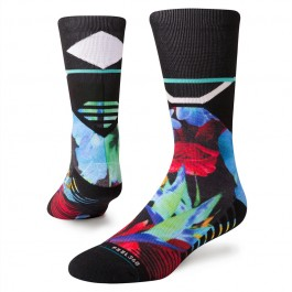Stance Men's Socks - Neo Floral Crew