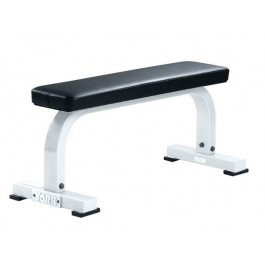 York ST Flat Bench - White
