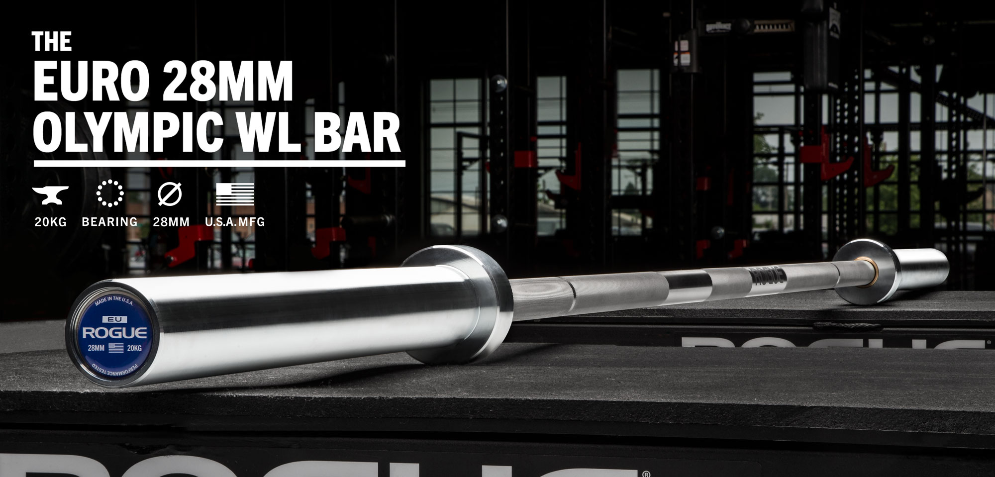 rogue euro 28mm olympic wl bar rogue fitness
