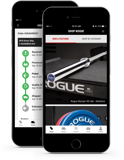 Get the rogue app on itunes & google play rogue fitness