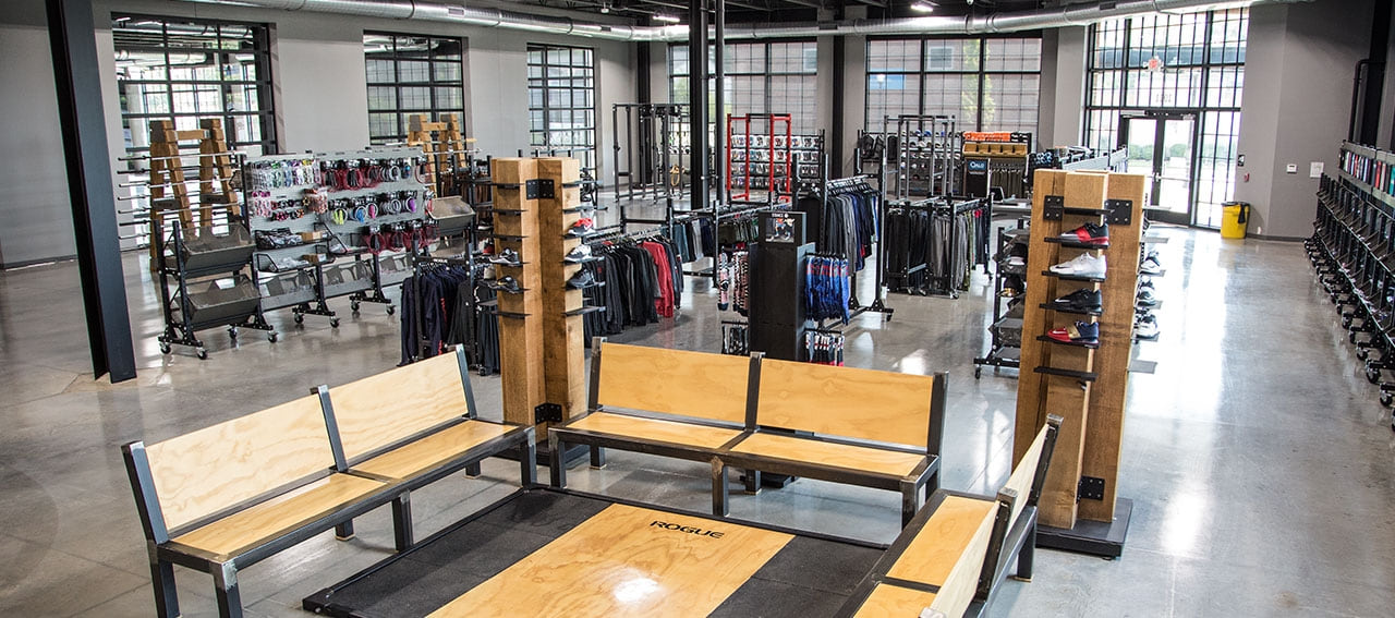 Rogue fitness equipment headquarters retail store rogue fitness