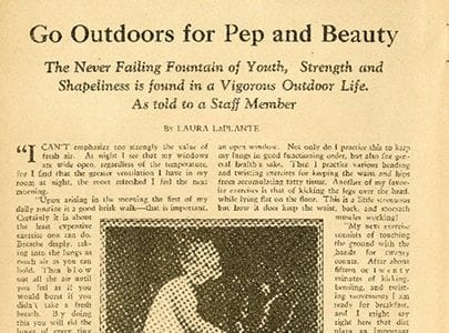 Go Outdoors For Pep and Beauty – Strength Magazine – April
