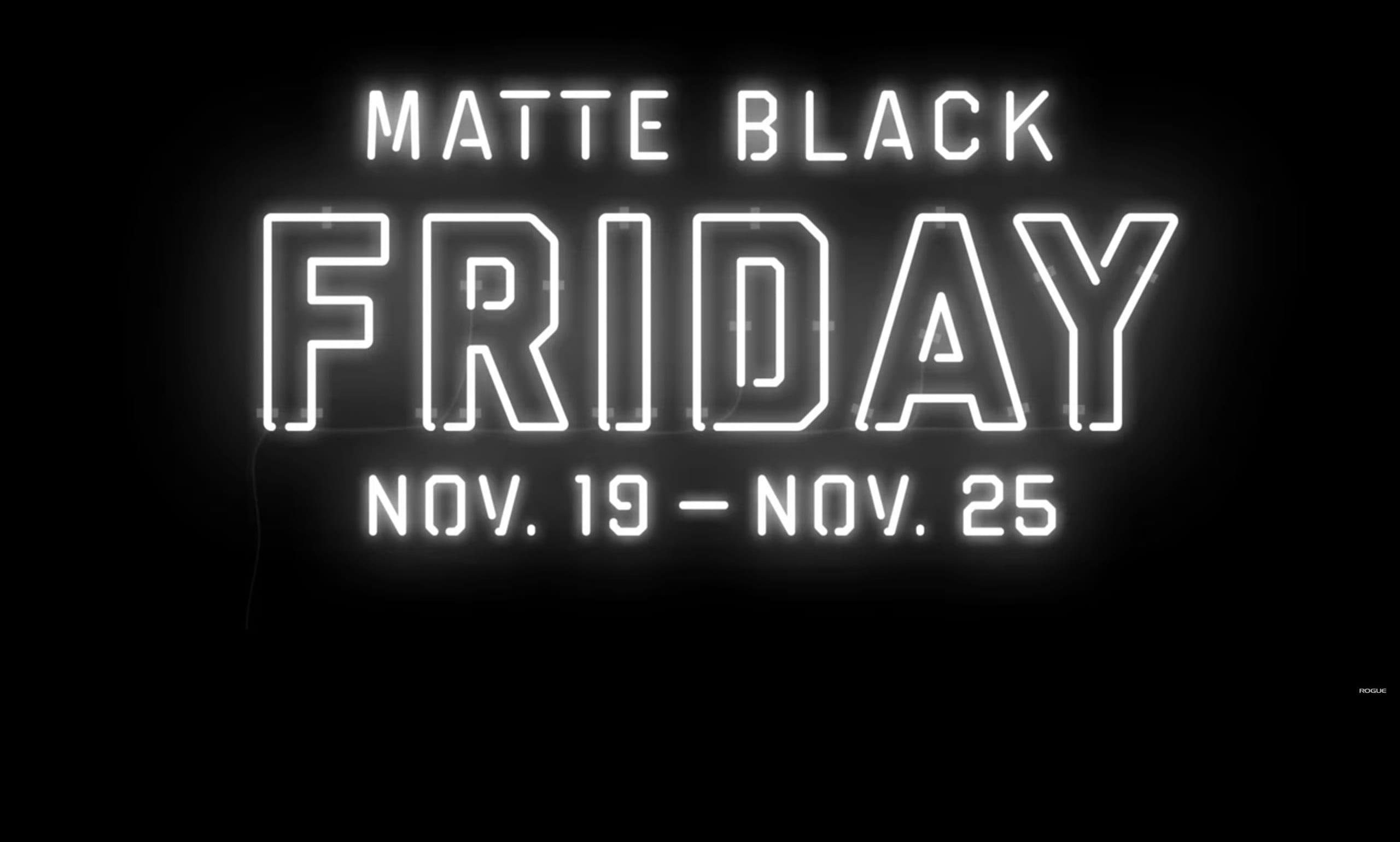 Matte Black Friday 2018 The Index
