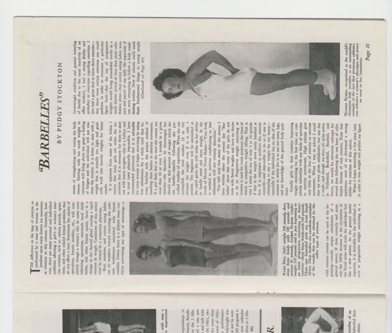 Barbelles Article March 1946