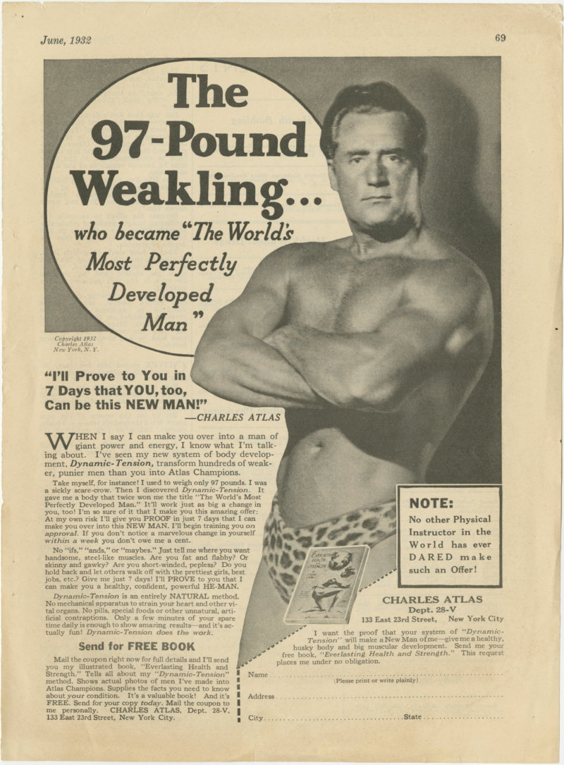 The 97-Pound Weakling Ad