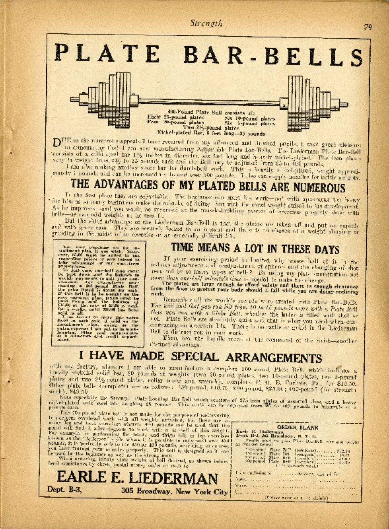 Plate Bar-Bells