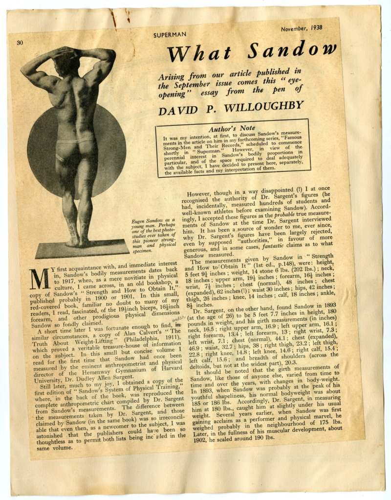 What Sandow Probably Measured