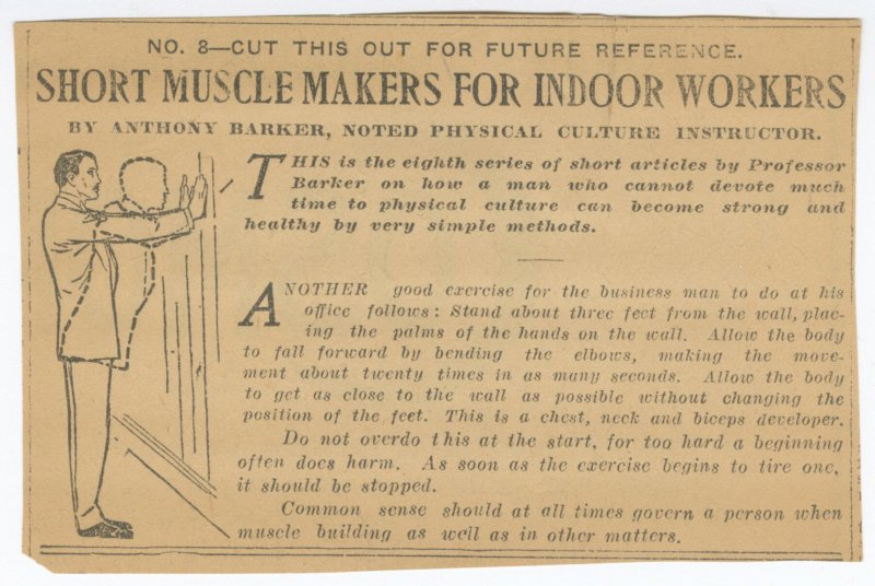 Short Muscle Makers for Indoor Workers No. 8