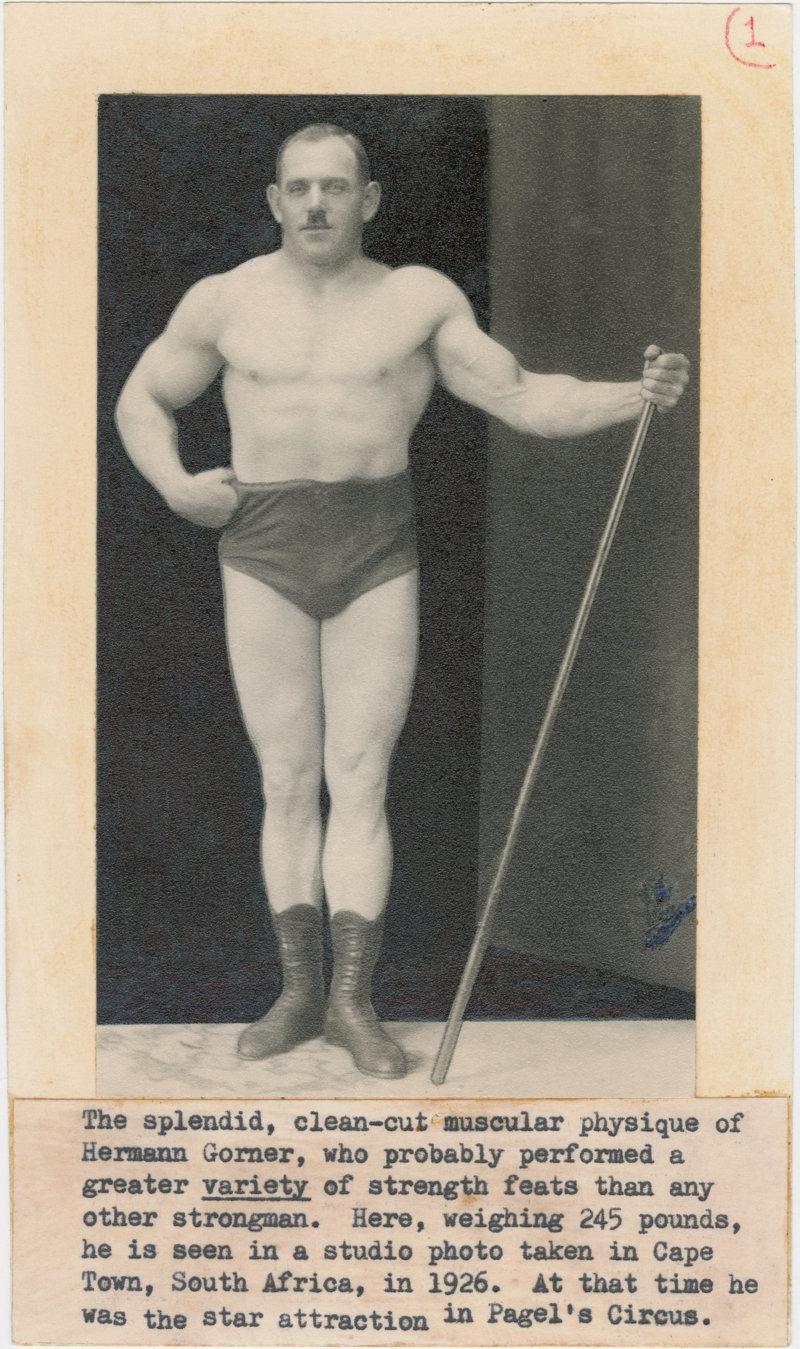 The splendid, clean-cut muscular physique of Hermann Gorner