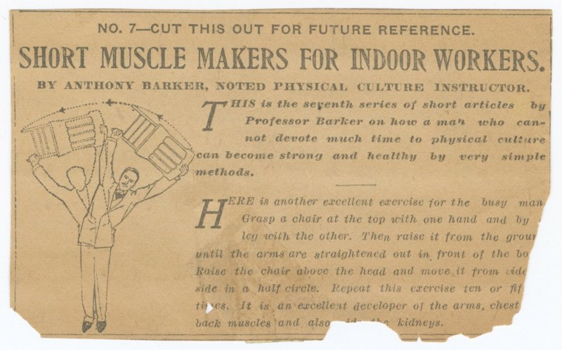 Short Muscle Makers for Indoor Workers No. 7