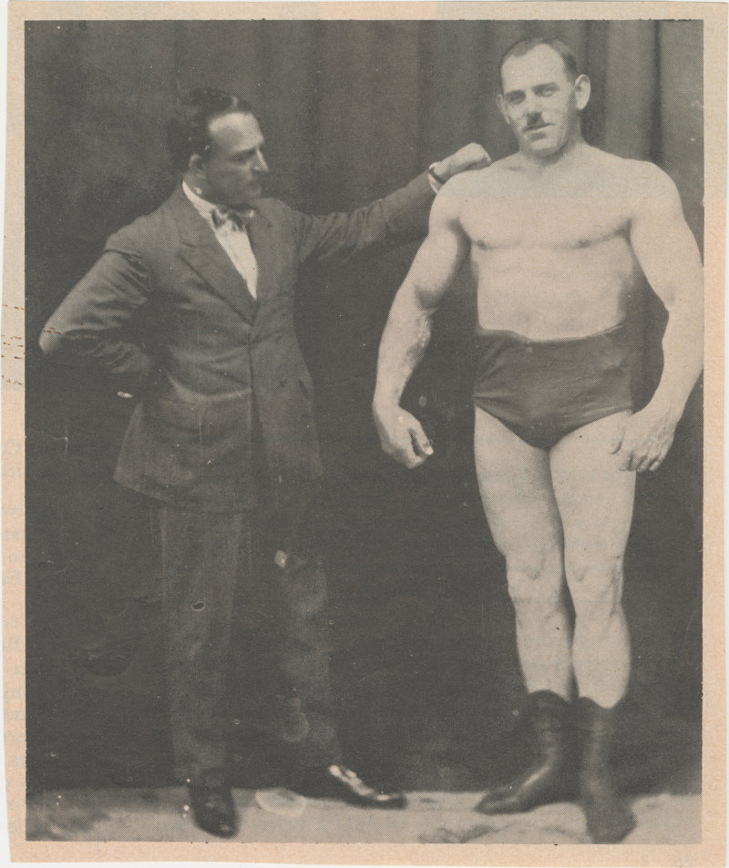 Photo if Herman Goerner standing with another man