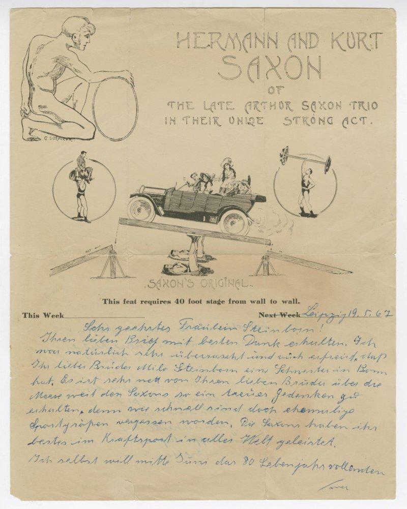 Frida Hennig letter to Miss Steinborn