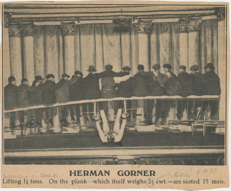Herman Gorner Lifting 1 1/4 tons