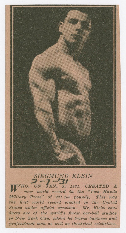 Siegmund Klein clipping