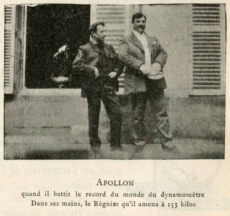 Apollon when he set the dynamometer world record.