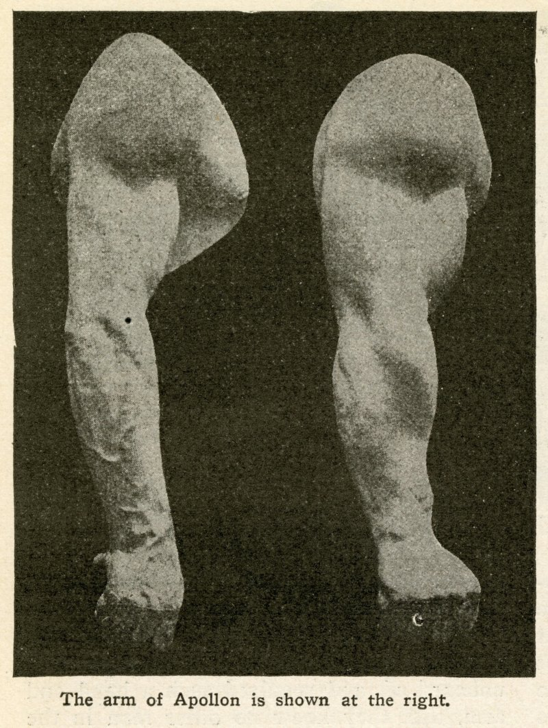 The arm of Apollon is shown at the right