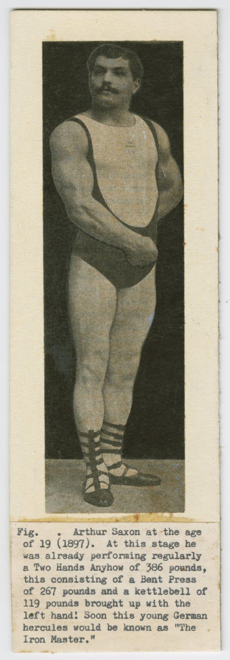 Arthur Saxon portrait in stage dress