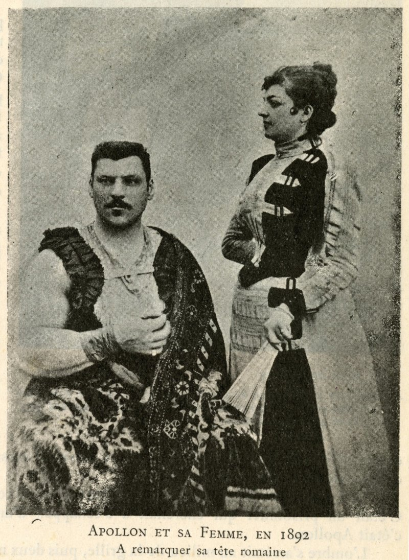 Apollon and his wife in 1892
