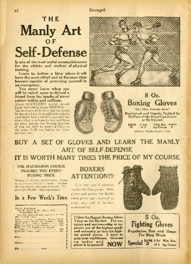 The Manly Art of Self-Defense