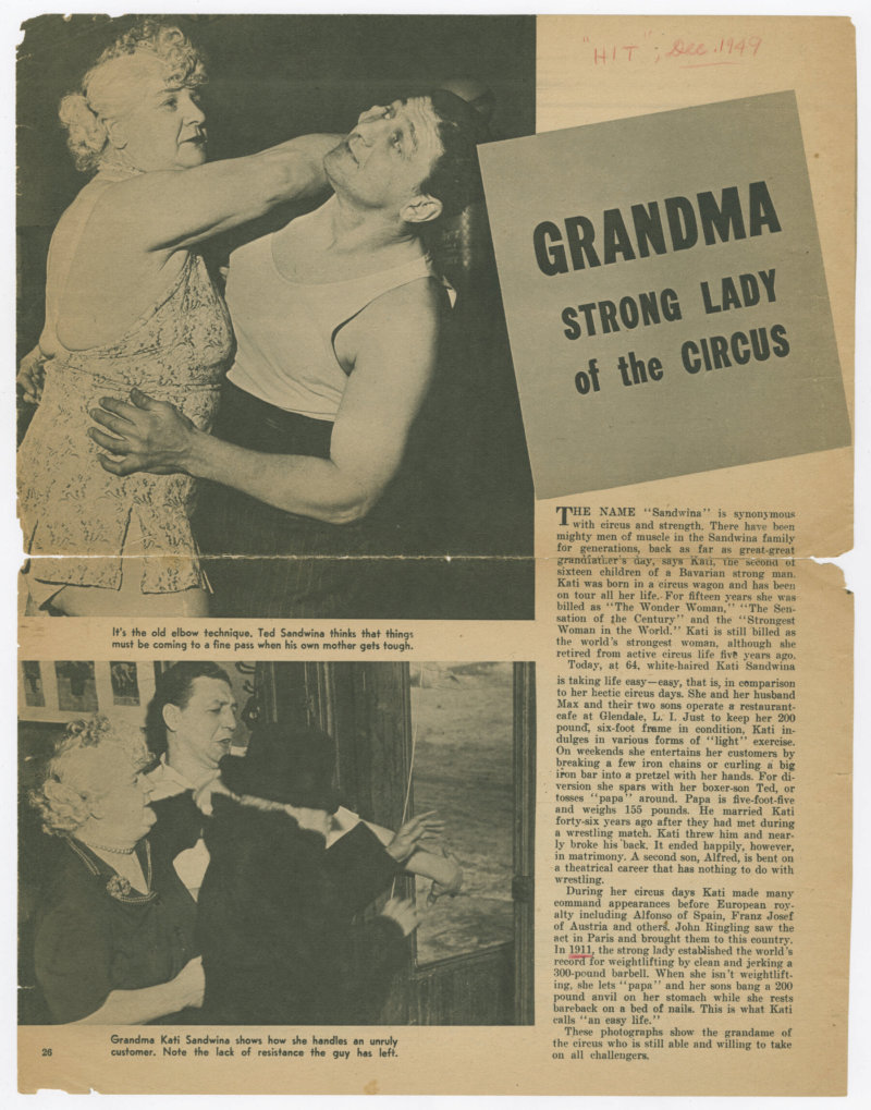 Grandma: Strong Lady of the Circus