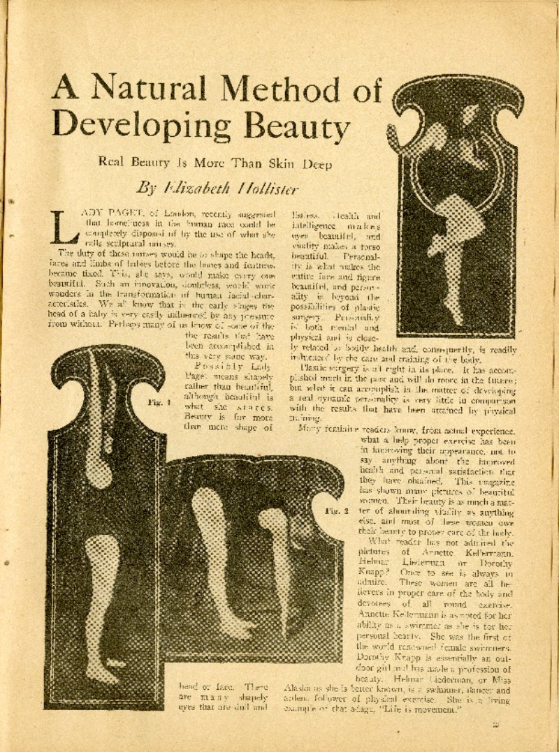 A Natural Method of Developing Beauty
