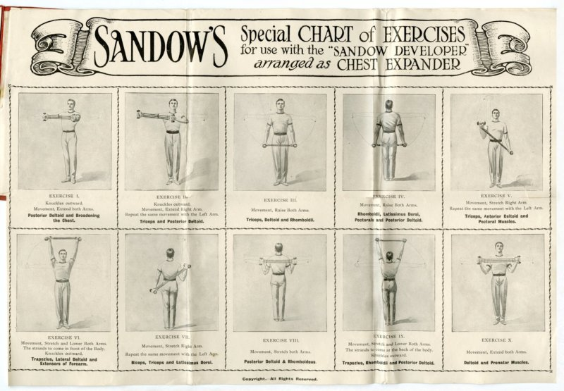 Sandow's Special Chart of Exercises for Chest Expander