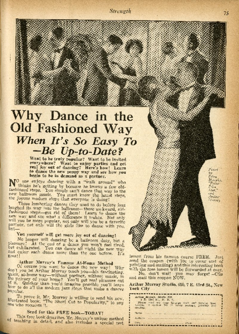 Why Dance In The Old Fashioned Way?