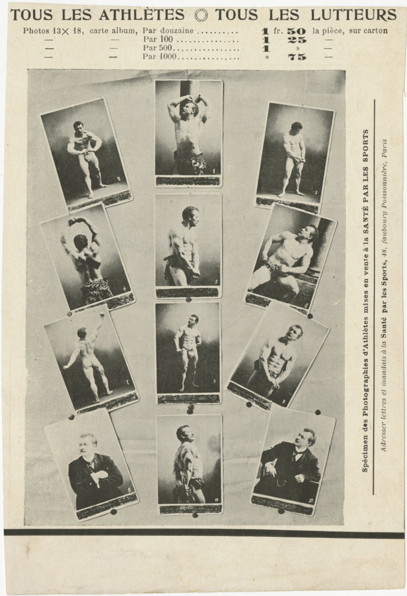 Clipping with photos of Eugen Sandow