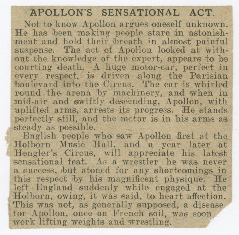 Apollon's Sensational Act