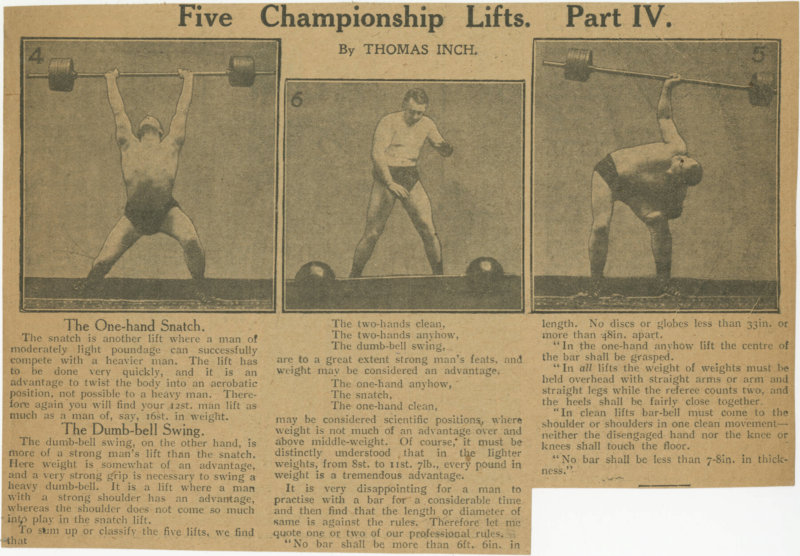 Five Championship Lifts, Part IV