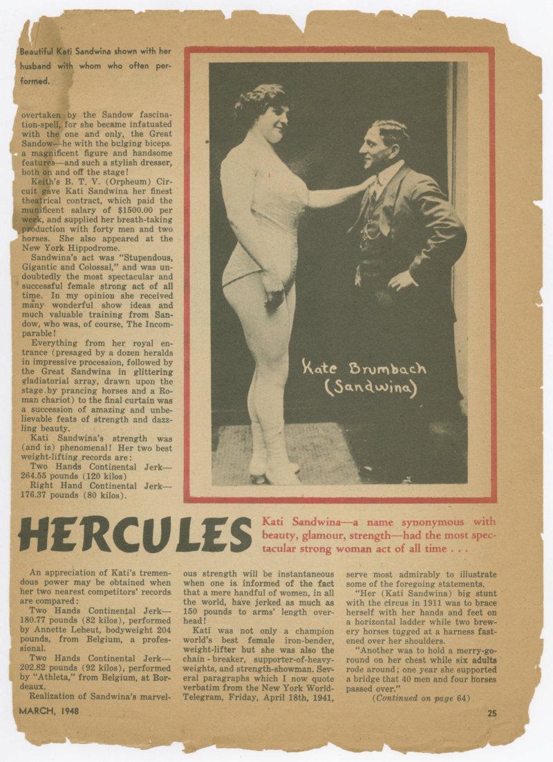 A Feminine Hercules, continued
