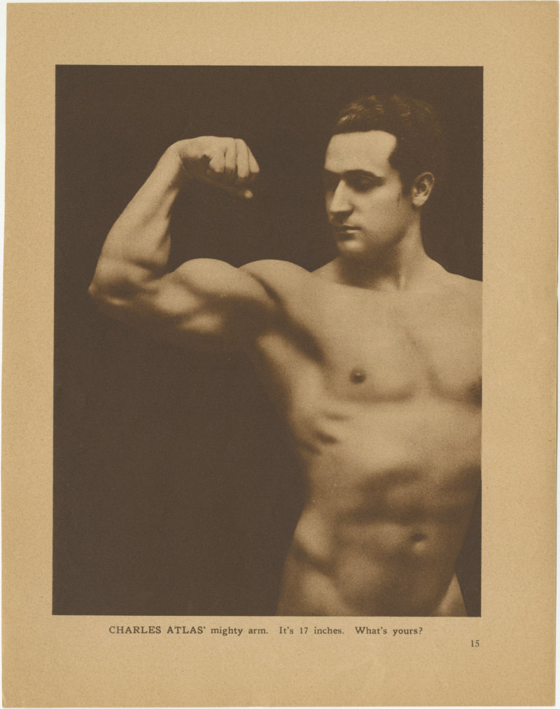 Charles Atlas' mighty arm