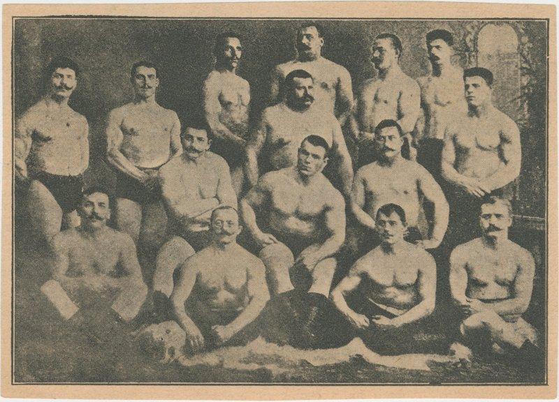 Photo of wrestlers including Georges Hackenschmidt